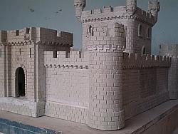 Castelo Medieval Construção De Um Modelo Miniatura